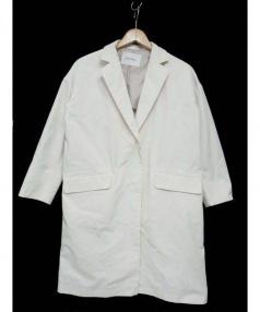 Spick and Span(スピック アンド スパン)の古着「メモリーオックスドロップチェスターコート」|ライトグレー
