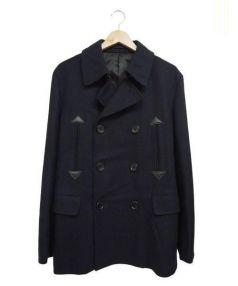 Adam et Rope(アダム エ ロペ)の古着「メルトンPコート」|ネイビー