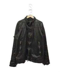 NEIL BARRETT(ニールバレット)の古着「レザージャケット」 ブラック