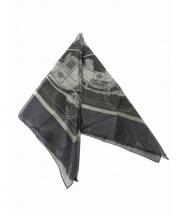 HERMES(エルメス)の古着「シルク混スカーフ」|ブラック