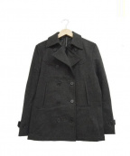 blackbarrett(ブラックバレット)の古着「Pコート」 チャコールグレー