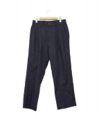 UNITED ARROWS(ユナイテッド アローズ)の古着「コットンシルク2Pワイドパンツ」|ネイビー