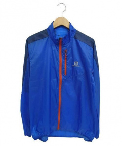 SALOMON(サロモン)の古着「ナイロンジャケット」 ブルー×ネイビー