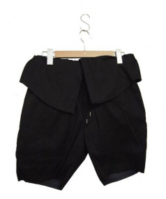 N4(エヌフォー)の古着「SHIRTS TAIL イージーショートパンツ」|ブラック