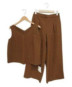 PLST(プラステ)の古着「セットアップブラウス」|ブラウン