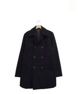 JOURNAL STANDARD(ジャーナルスタンダード)の古着「メルトンダブルピーコート」|ブラック