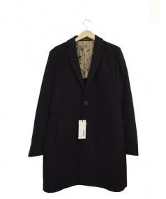 ROYAL ROW(ロイヤルロウ)の古着「カシミヤ混チェスターコート」|ブラック