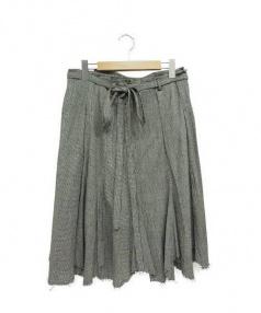 MERVEILLE H.(メルベイユアッシュ)の古着「グレンチェックデザインスカート」|ブラック×グレー