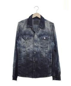 DIESEL(ディーゼル)の古着「ウォッシュ加工デニムジャケット」|インディゴ