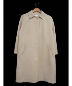BABYLONE(バビロン)の古着「比翼ステンカラーコート」|ベージュ