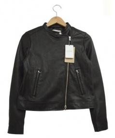 Plage(プラージュ)の古着「スタンドカラーライダースジャケット」|ブラック