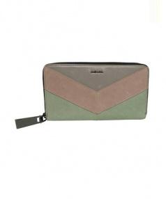 DIESEL(ディーゼル)の古着「ラウンドファスナー長財布」|グリーン×ピンク
