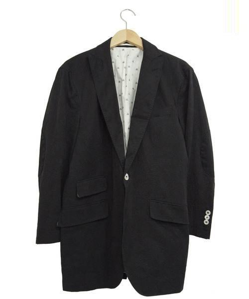 MICHAEL BASTIAN MICHAEL BASTIAN (マイケルバスティアン) エルボーパッチ1Bジャケット ブラック サイズ:50 参考定価190.000円程