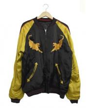 CROPPED HEADS(クロップドヘッズ)の古着「リバーシブルスーベニアジャケット」|ブラック