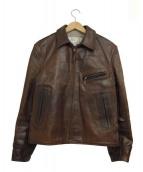 AERO LEATHER(エアロレザー)の古着「A-2フライトジャケット」|ブラウン