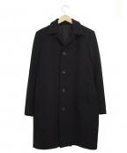 STUDIOUS(ステュディオス)の古着「カシミヤ混ウールコート」 ブラック
