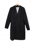 SHIPS JET BLUE(シップスジェットブルー)の古着「ノーカラーチェスターコート」 グレー