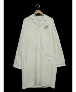 Adam et Rope(アダムエロペ)の古着「ショップコート」 ホワイト
