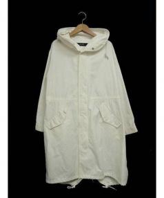 JOURNAL STANDARD(ジャーナルスタンダード)の古着「バックサテンモッズコート」|ホワイト