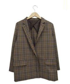 Adam et Rope(アダム エ ロペ)の古着「ボックスジャケット」|ブラウン