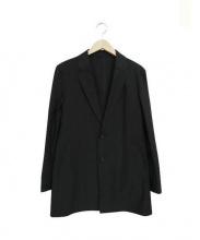 COMME CA MEN(コムサメン)の古着「ハイゲージジャージーコート」|ブラック