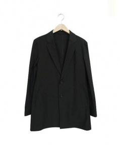 COMME CA MEN(コムサメン)の古着「ハイゲージジャージーコート」 ブラック