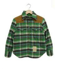 DSQUARED2(ディースクエアード)の古着「フランネルウエスタンシャツジャケット」|グリーン