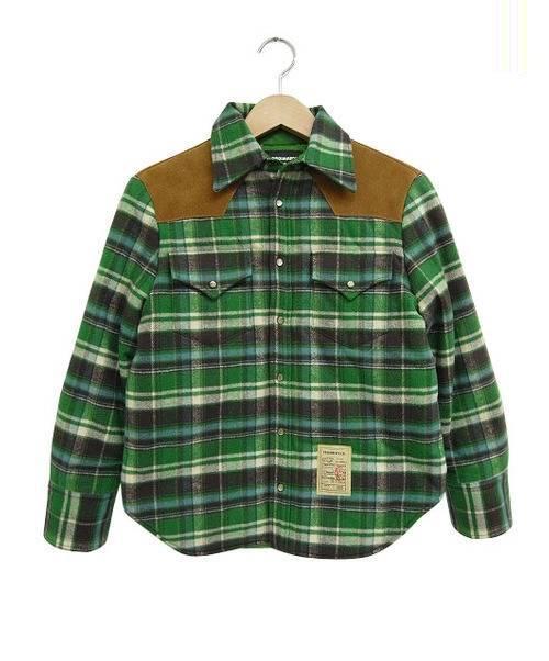 DSQUARED2 DSQUARED2 (ディースクエアード) フランネルウエスタンシャツジャケット グリーン サイズ:40 参考定価138,000円+税
