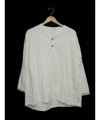 das(ダズ)の古着「ヘンリーネックシャツ」|ホワイト