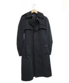 Dior Homme(ディオールオム)の古着「比翼コート」|ブラック