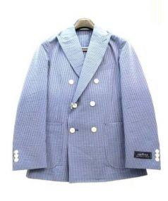 ETONNE(エトネ)の古着「シアサッカーセットアップスーツ」|ブルー