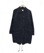 MHL(エムエイチエル)の古着「ステンカラーモッズコート」|ネイビー