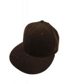 KAIKO(カイコ)の古着「ベルベットコードキャップ」|ブラウン