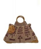 JAMIN PUECH(ジャマンピュエッシュ)の古着「装飾ハンドバッグ」|ボルドー