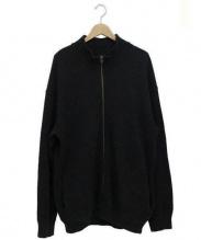 crepuscule(クレプスキュール)の古着「Moss Stitch Zip Cardigan」|ブラック