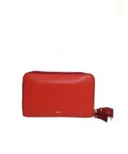 ANYA HINDMARCH(アニヤハインドマーチ)の古着「ラウンドジップ財布」|レッド