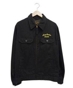 CALEE(キャリー)の古着「チェーン刺繍スイングトップ」|ブラック