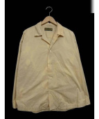 HURRAY HURRAY(フレイフレイ)の古着「オープンカラーシャツ」 ベージュ