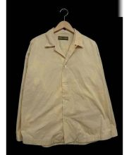 HURRAY HURRAY(フレイフレイ)の古着「オープンカラーシャツ」|ベージュ