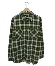 Needles(ニードルス)の古着「ネルシャツ」|グリーン