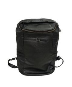 LETDREAM(レットドリーム)の古着「レザー切替デイパック」 ブラック