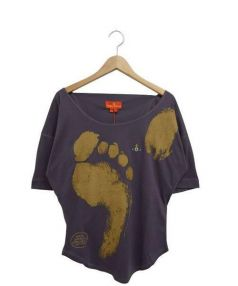 Vivienne Westwood(ヴィヴィアンウエストウッド)の古着「プリントカットソー」|パープル