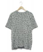 PS Paul Smith(ピーエスポールスミス)の古着「レオパードジャガードTシャツ」 グレー