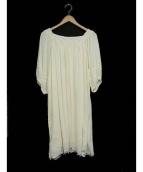 ROSSO(ロッソ)の古着「レース刺繍オフショルワンピース」|ホワイト