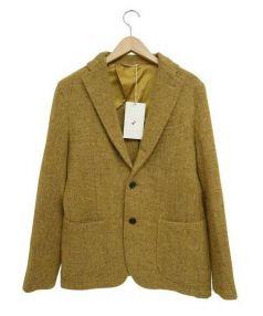 Harris Tweed×ARBRE(ハリスツイード×アルブル)の古着「ツイードジャケット」 マスタード