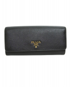 PRADA(プラダ)の古着「長財布」 ブラック