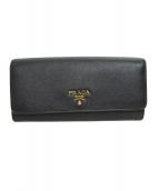 PRADA(プラダ)の古着「長財布」|ブラック