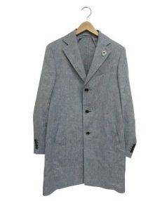 LARDINI(ラルディーニ)の古着「リネンチェスターコート」|インディゴ
