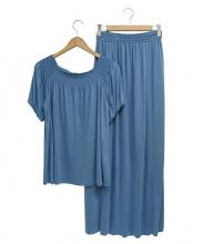 LOUNIE(ルーニー)の古着「セットアップワンピース」|ブルー