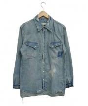 REMI RELIEF(レミレリーフ)の古着「デニムウエスタンシャツ」|インディゴ